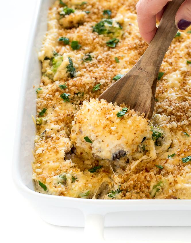 Healthy Cheesy Broccoli Quinoa Bake | chefsavvy.com