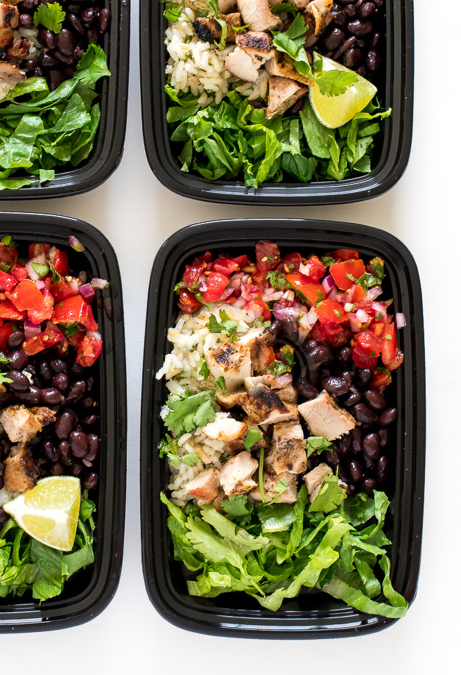 Burrito Bowls with Cilantro Lime Rice | chefsavvy.com