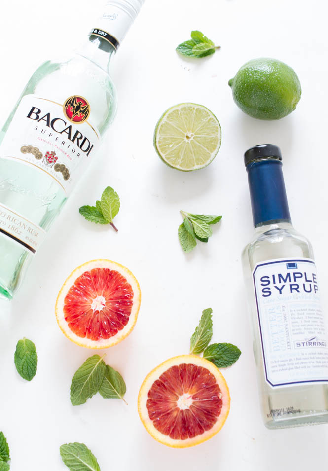 Blood Orange Mojito Ingredients | chefsavvy.com