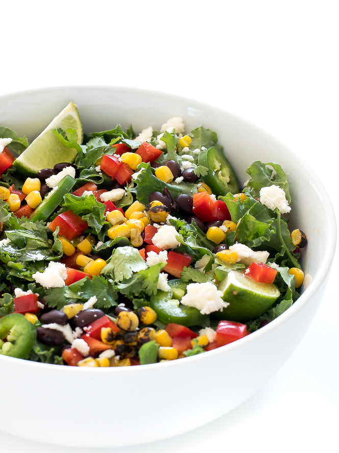 Kale Mexican Salad | chefsavvy.com