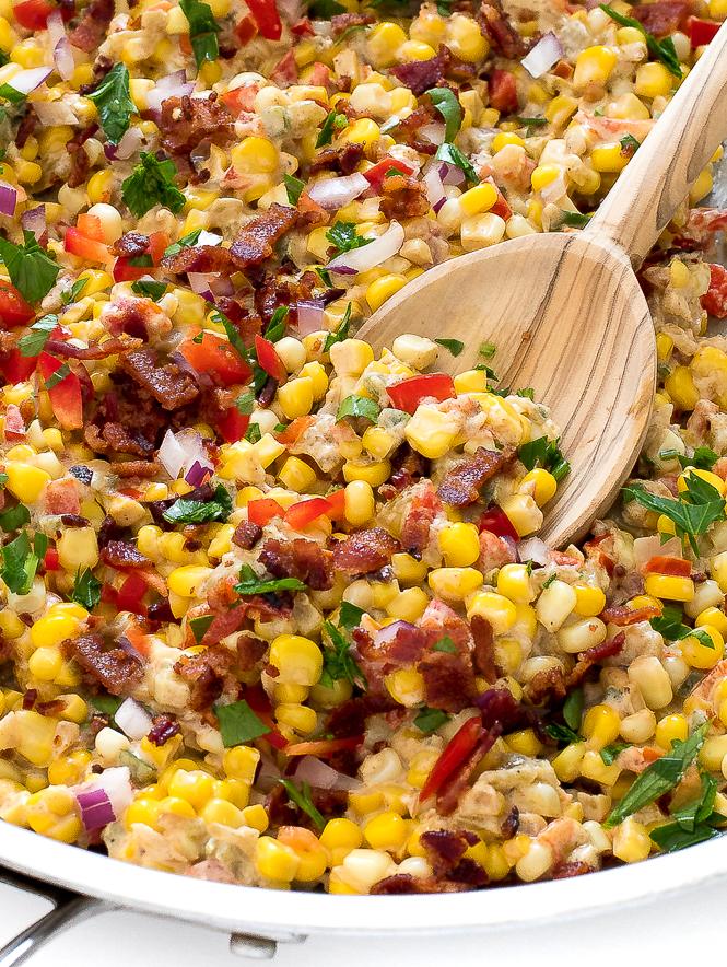 Easy Creamy Confetti Corn | chefsavvy.com