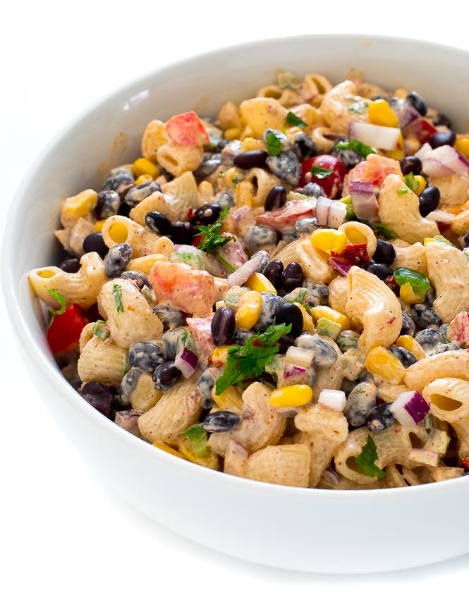 Easy Fiesta Pasta Salad | chefsavvy.com