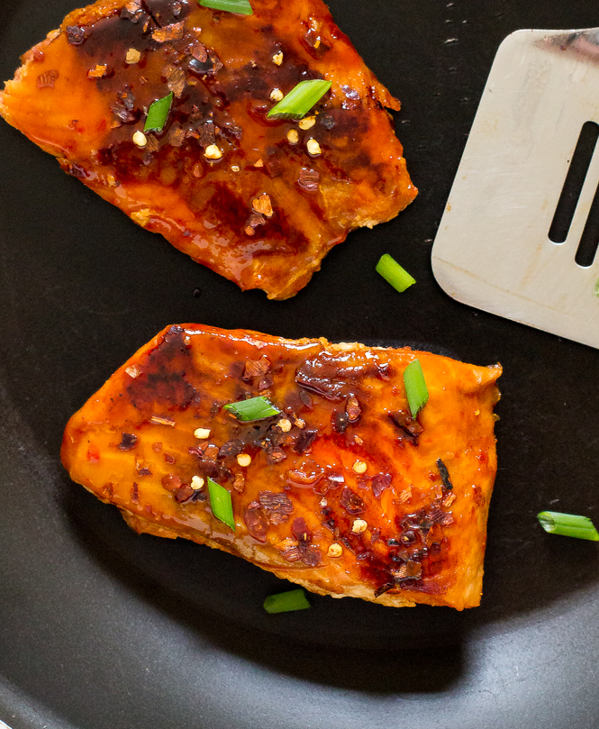 Salmon with Firecracker Sauce | chefsavvy.com