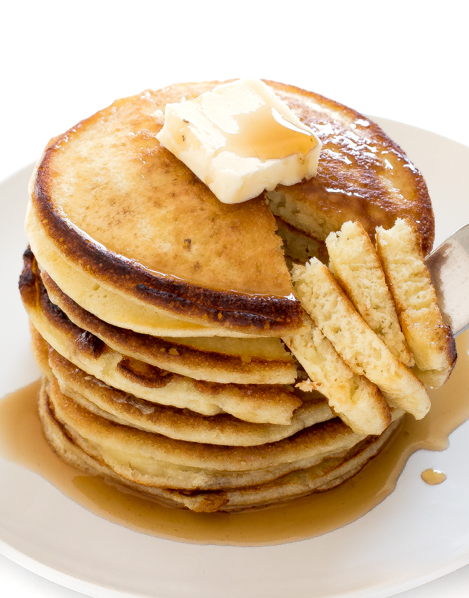 Homemade Buttermilk Pancakes Recipe