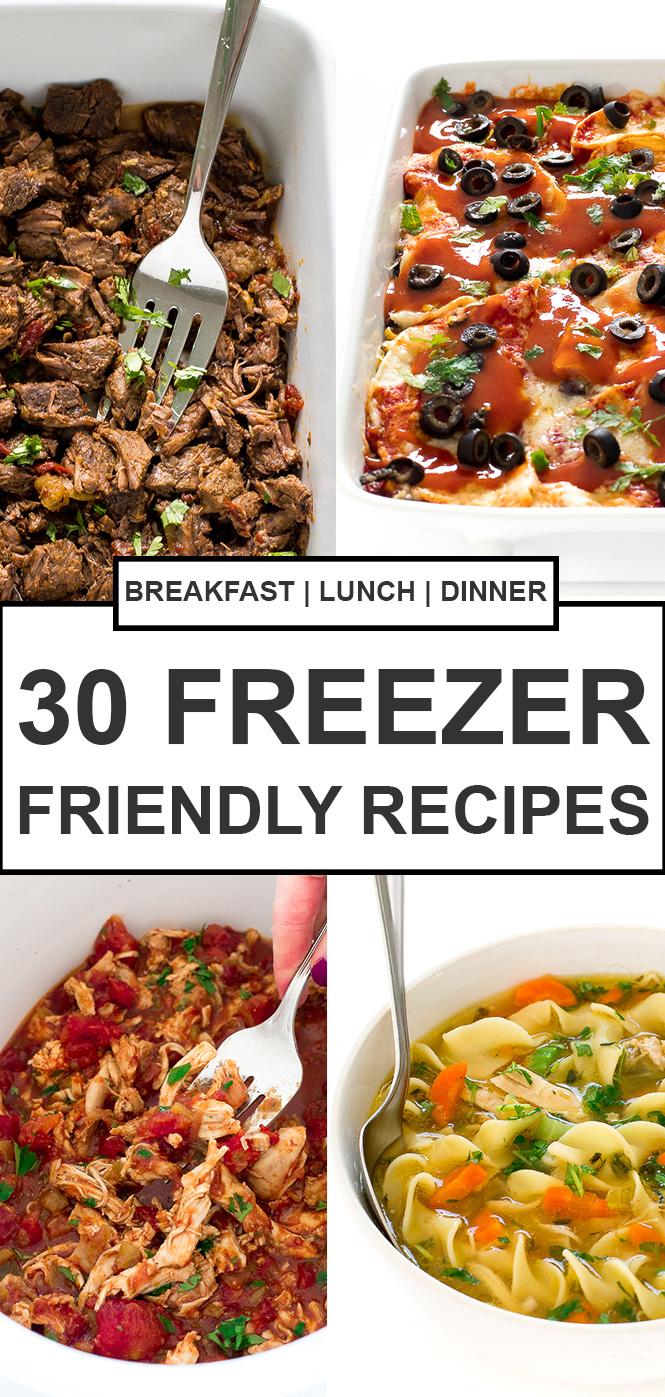 30 Easy Freezer Meals | chefsavvy.com