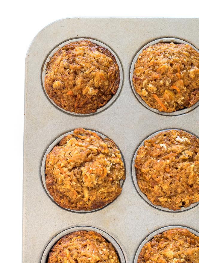 Healthy Morning Glory Muffins | chefsavvy.com