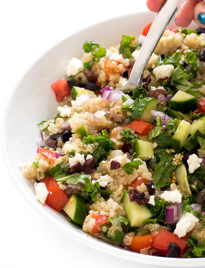 Kale Quinoa Salad | chefsavvy.com