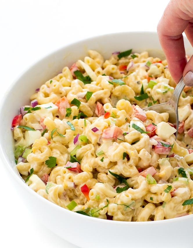 Cold Macaroni Salad | chefsavvy.com