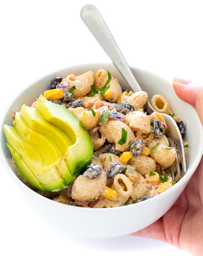 Easy Mexican Pasta Salad | chefsavvy.com