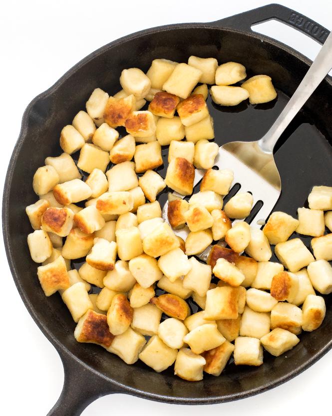 Pan frying gnocchi | chefsavvy.com