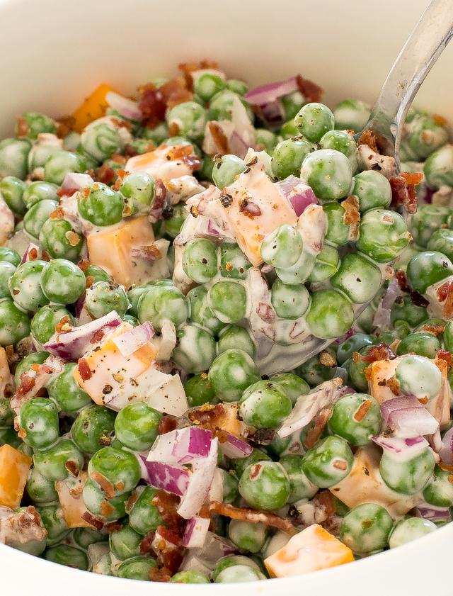 Homemade Pea Salad recipe | chefsavvy.com