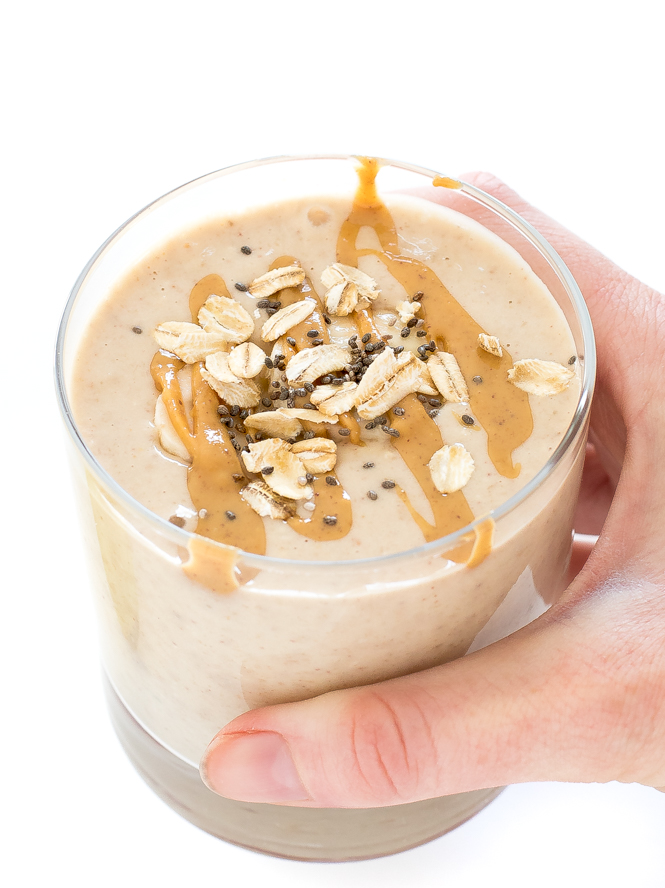 How To Make a Peanut Butter Oatmeal Smoothie Recipe