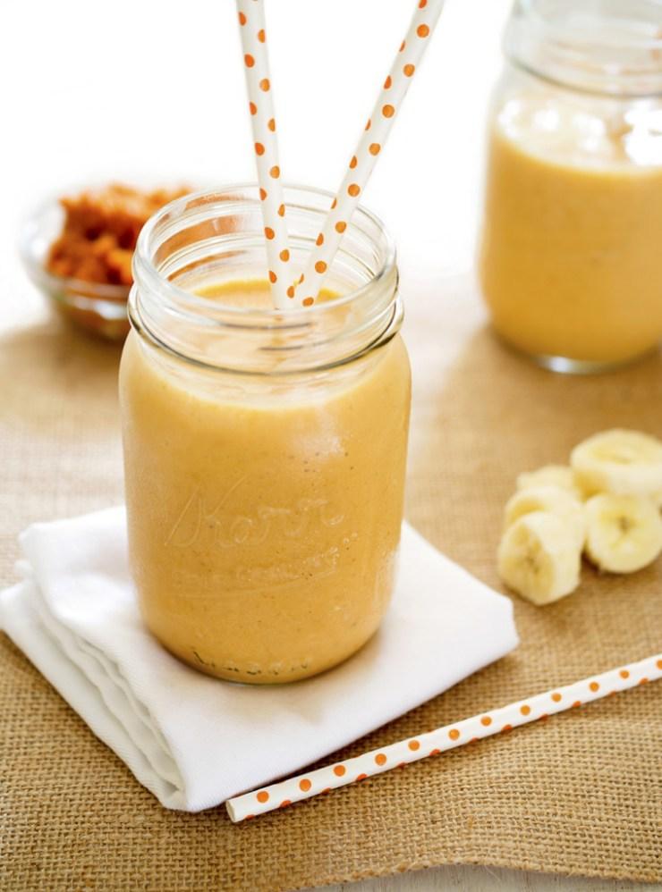 Pumpkin Banana Smoothie | chefsavvy.com