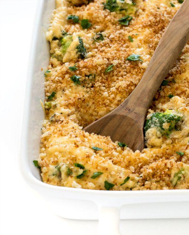 Cheesy Broccoli Quinoa Bake | chefsavvy.com