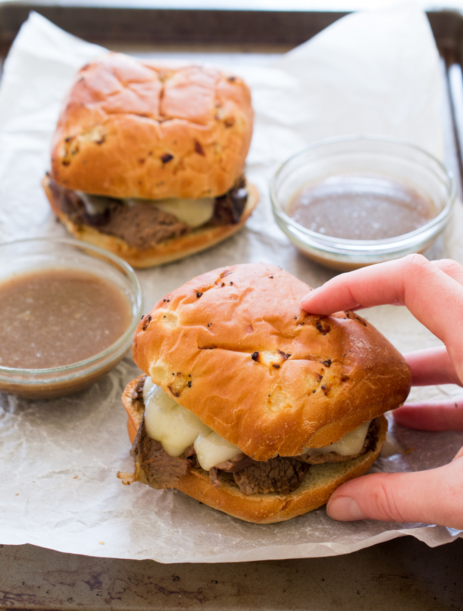 Slow Cooker French Dip Sandwiches | chefsavvy.com