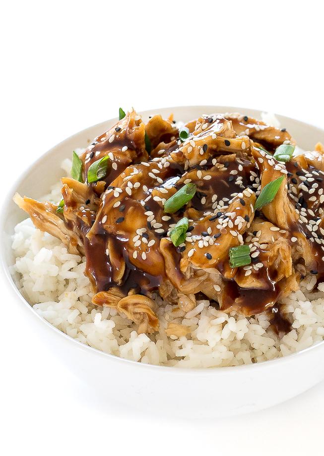 Slow Cooker Teriyaki Chicken | chefsavvy.com