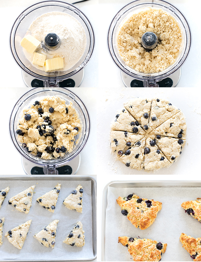 Step by step pictures of blueberry scones | chefsavvy.com