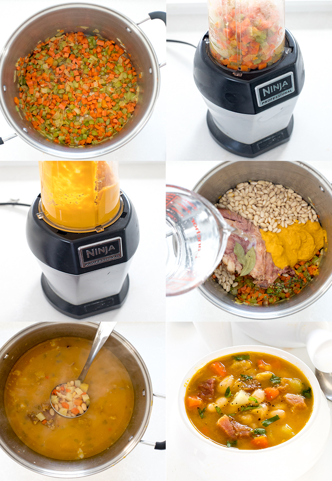 Step by step pictures for ham and bean soup | chefsavvy.com