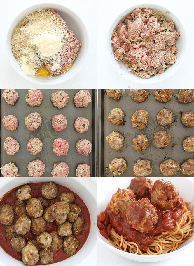 Step by step pictures of Italian Meatballs cooked in the slow cooker | chefsavvy.com