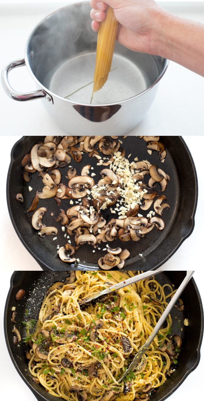 Learn how to make mushroom carbonara at home! | chefsavvy.com