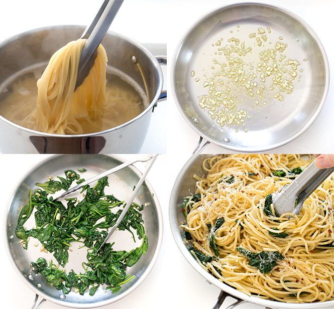 Learn how to make spaghetti aglio e olio at home | chefsavvy.com