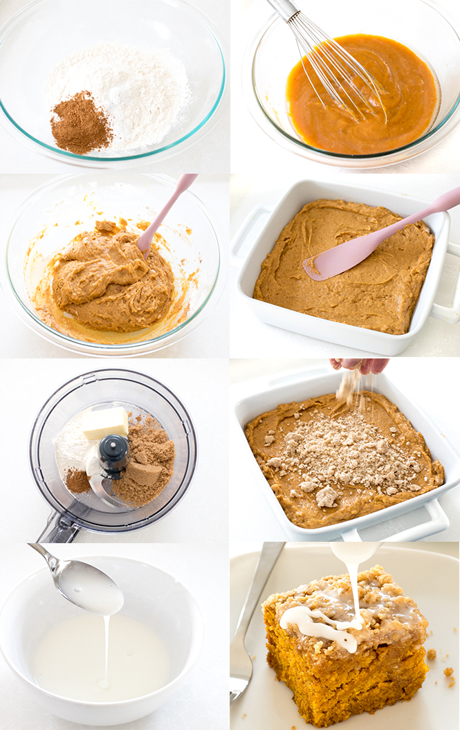 Step by step pictures of pumpkin coffee cake | chefsavvy.com