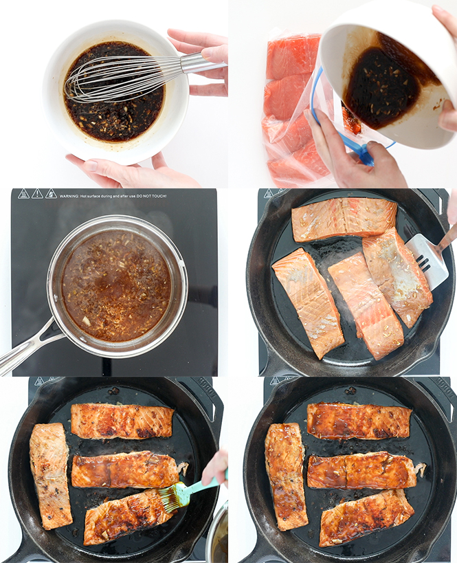 Step by step pictures of teriyaki salmon | chefsavvy.com