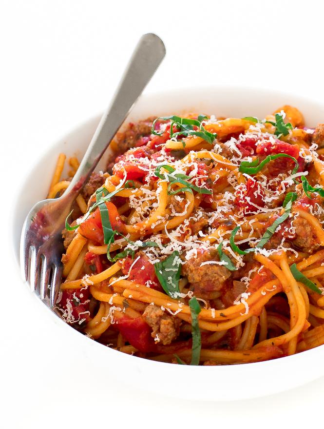 Instant Pot Spaghetti | chefsavvy.com