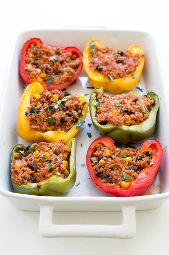 Healthy Mexican Turkey And Quinoa Stuffed Peppers Chef Savvy