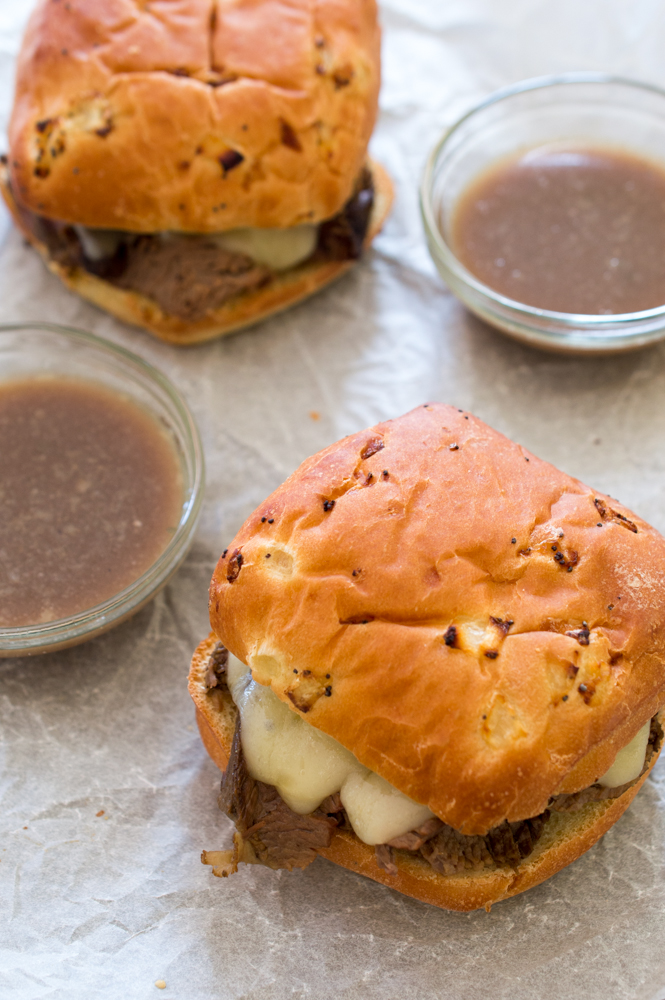 Easy Slow Cooker French Dip Sandwiches | chefsavvy.com