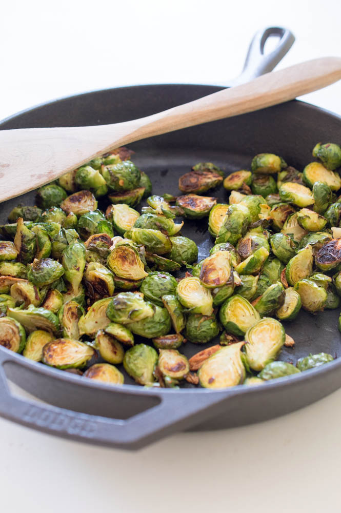 Easy Spicy Roasted Brussels Sprouts | chefsavvy.com