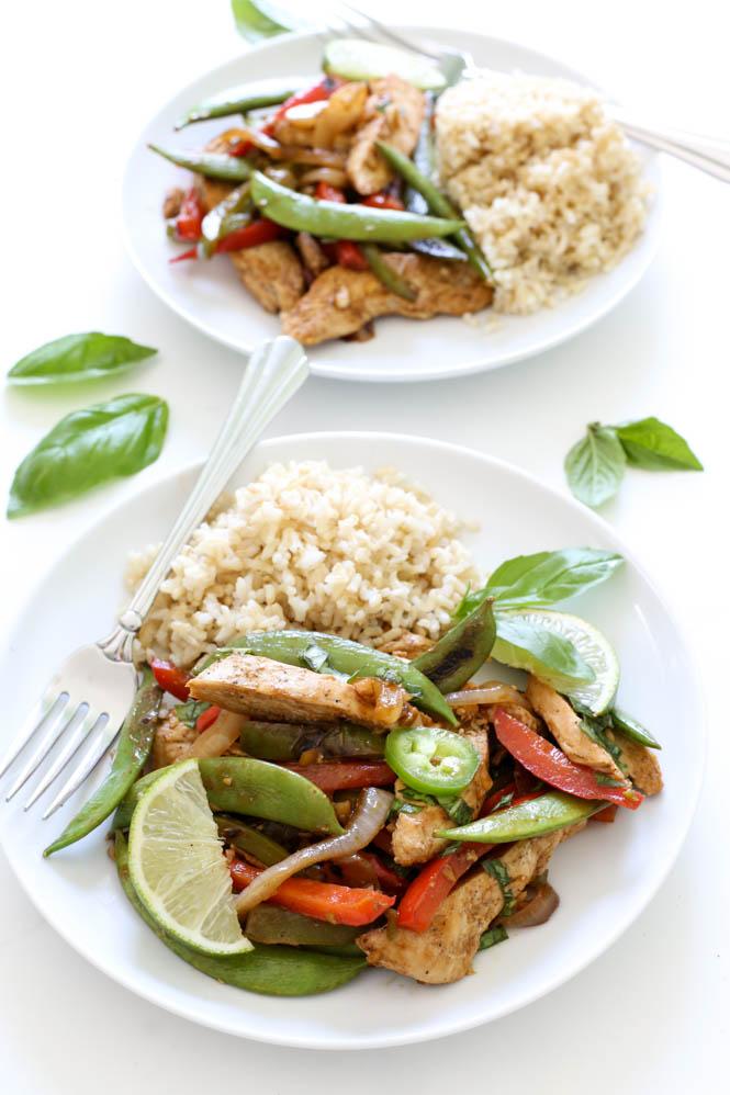 Thai Chicken Basil Stir Fry