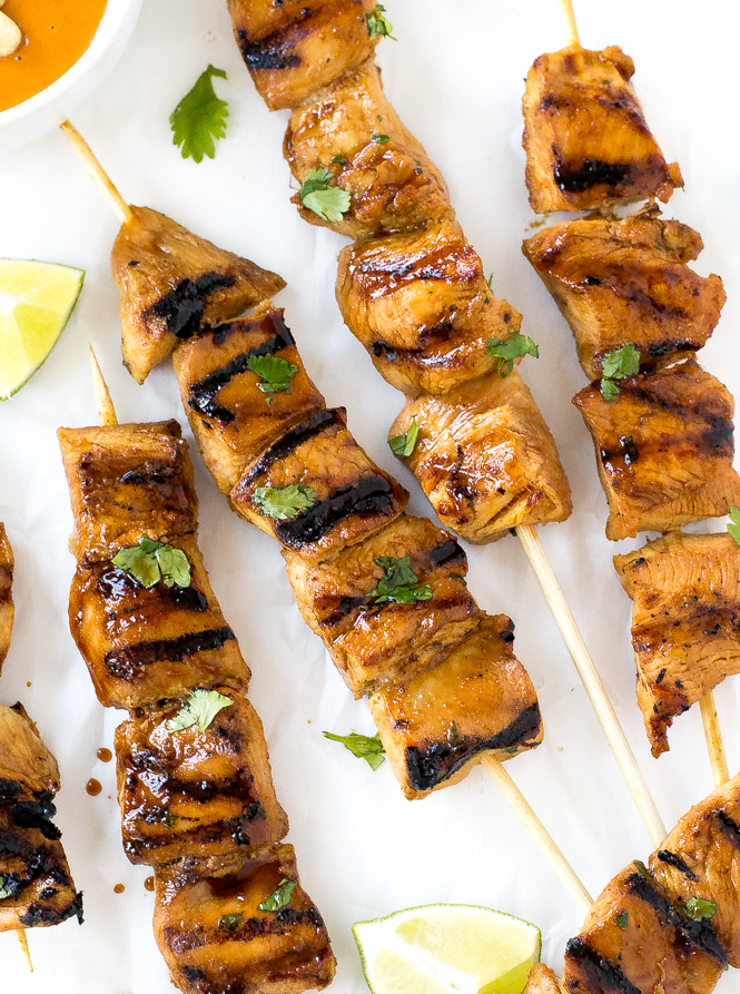 Thai Chicken Satay | chefsavvy.com