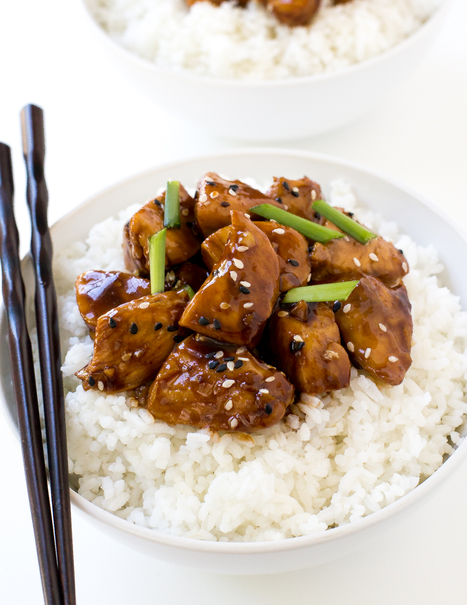 Easy Bourbon Chicken | chefsavvy.com