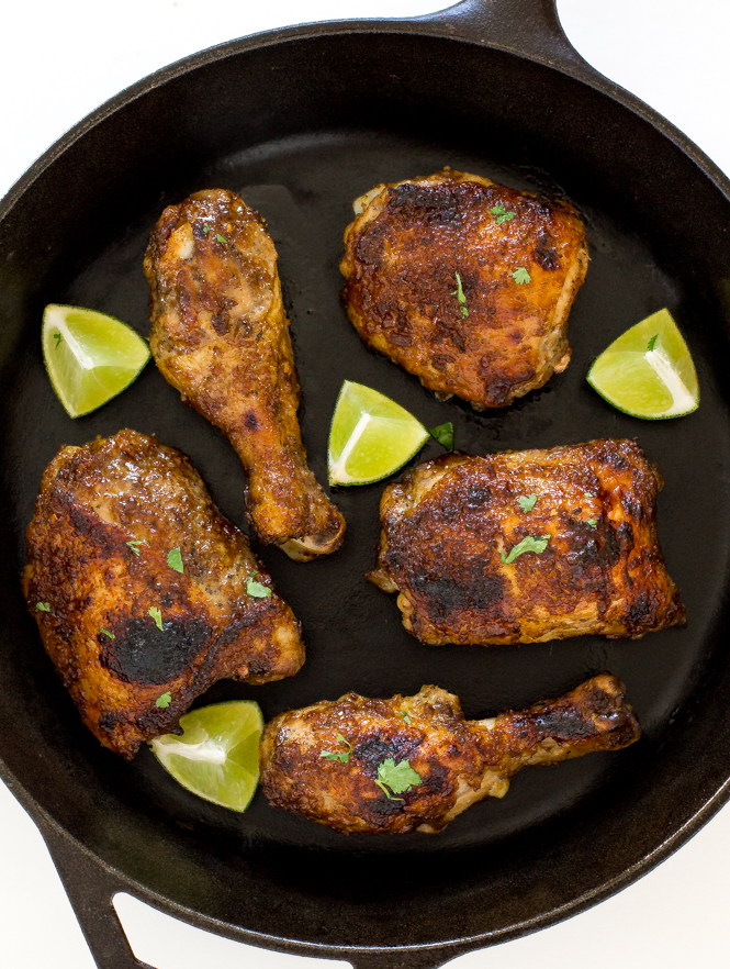 Baked Jerk Chicken Thighs | chefsavvy.com