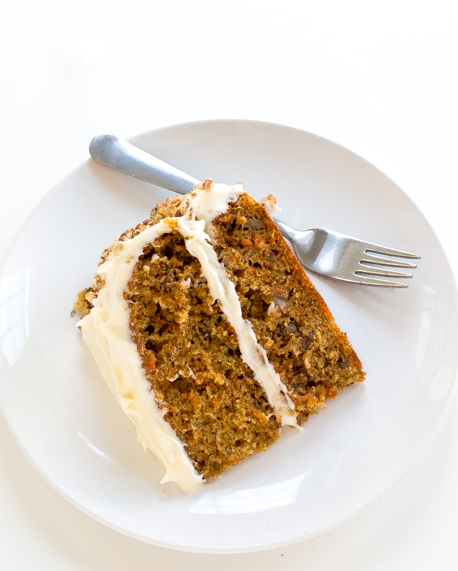 Carrot Cake with cream cheese frosting | chefsavvy.com