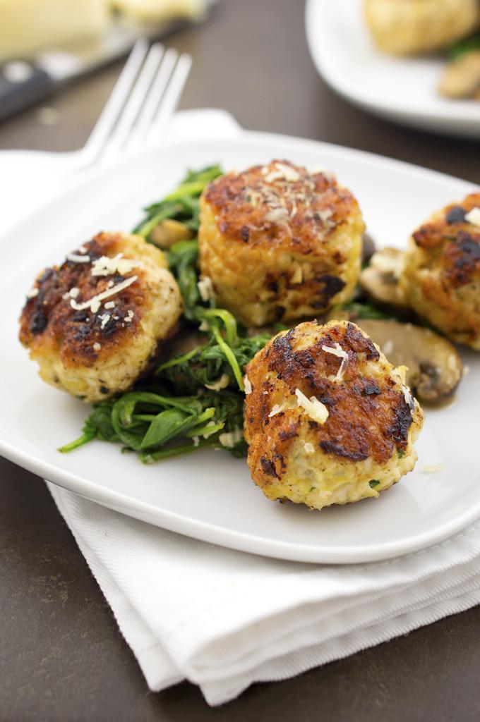 Turkey Meatballs with Arugula and Mushrooms   chefsavvy.com