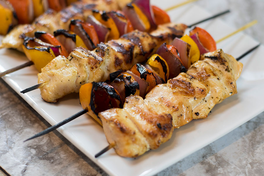 grilled chicken kababs