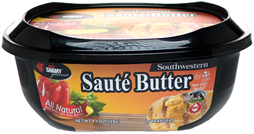 Chef Shamy Southwestern Sauté Butter has a perfect blend of pepper and herbs.