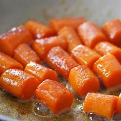 Chef Shamy butter is perfect for glazing carrots.