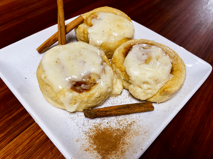 Indulge with some Honey Butter Cinnamon Rolls from Chef Shamy.