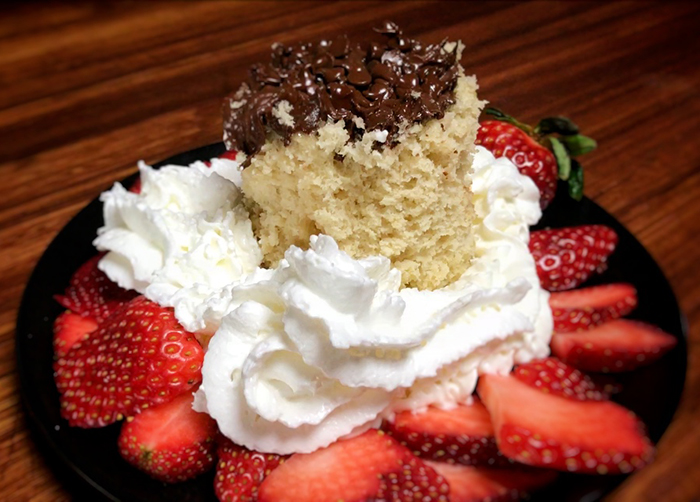 Chocolate Strawberry Mug Cake