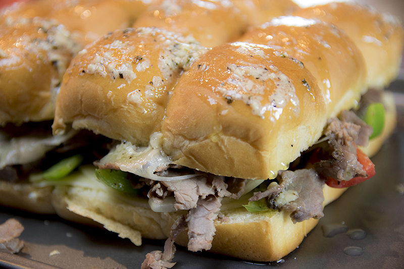Garlic Parmesan Philly Cheesesteak Sliders Recipe