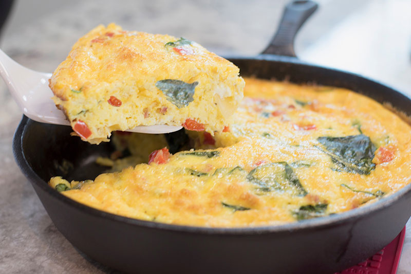 Frittatas have so many possible flavors.