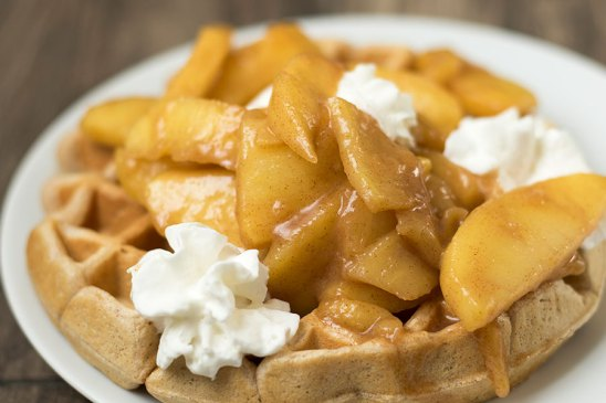 Cinnamon Apple Waffles