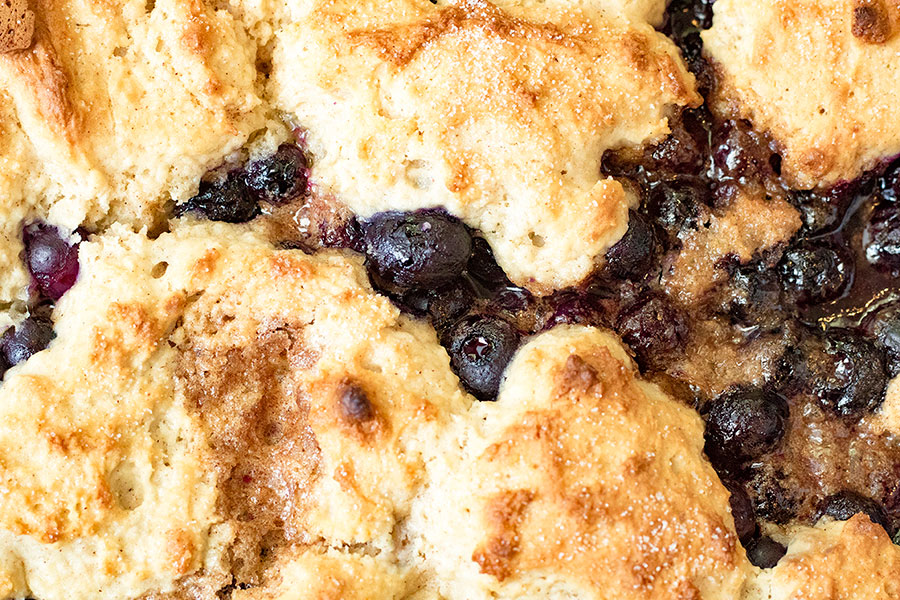 Cinnamon Blueberry Cobbler