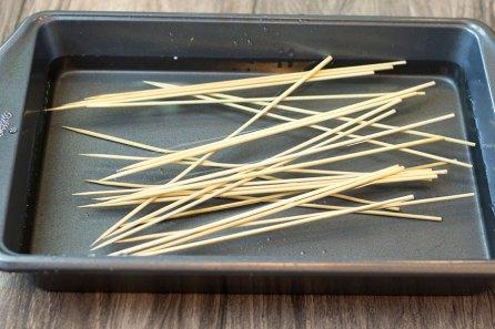 Garlic Rosemary Potato Skewers