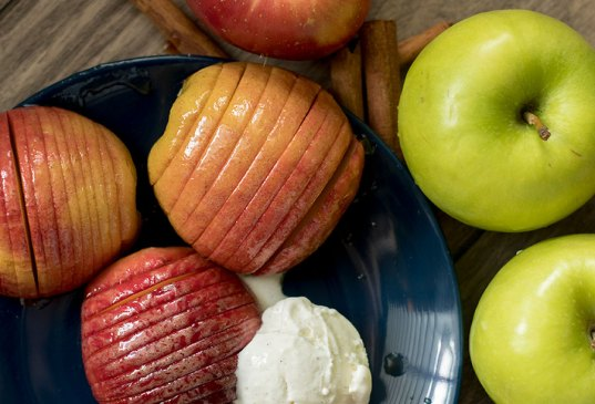 Hasselback Baked Apples
