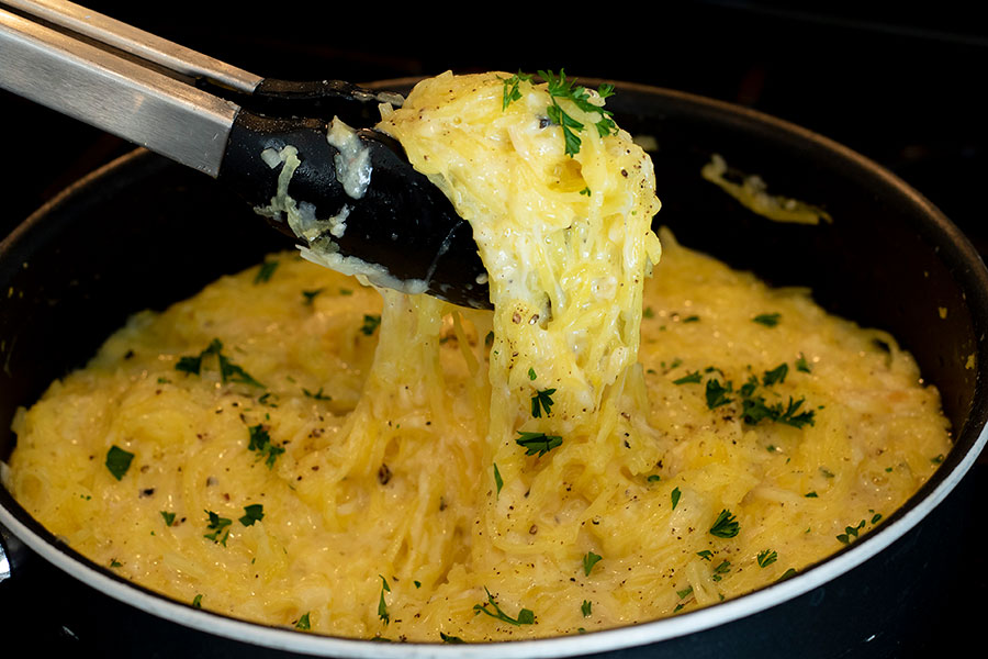Four Cheese Garlic Spaghetti Squash