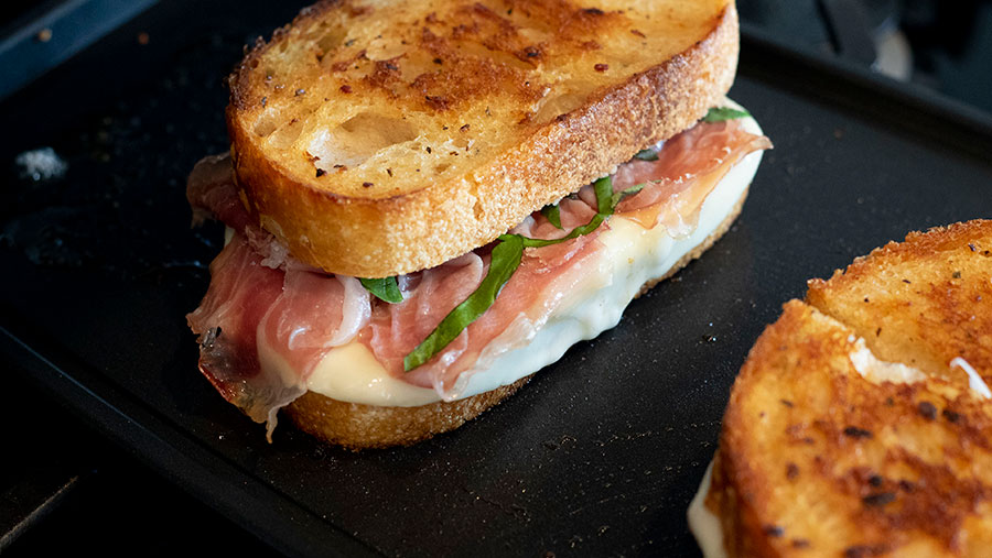 Basil Prosciutto Grilled Cheese